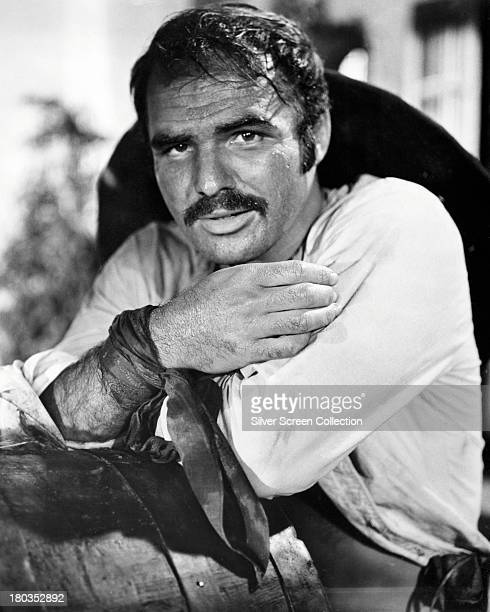 American actor Burt Reynolds as Yaqui Joe Herrera in '100 Rifles' directed by Tom Gries 1969