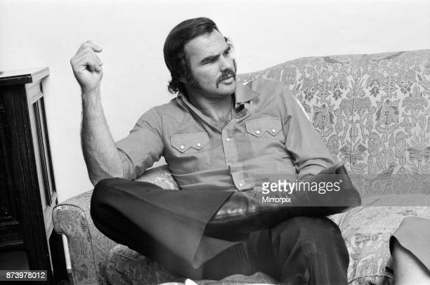 American actor Burt Reynolds at the Dorchester Hotel London 6th July 1973