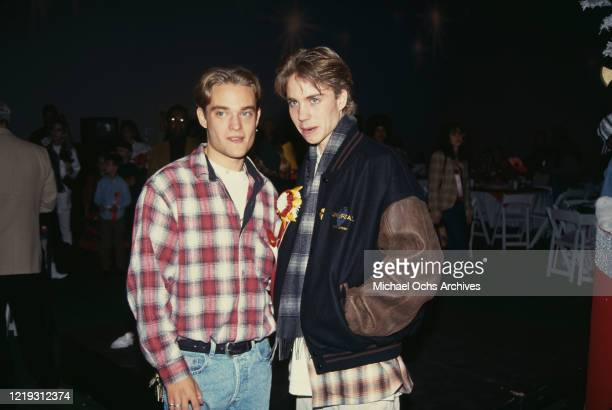 American actor Chad Allen and American actor Jonathan Brandis attend the 62nd Annual Hollywood Christmas Parade at KTLA Studios in Los Angeles,...