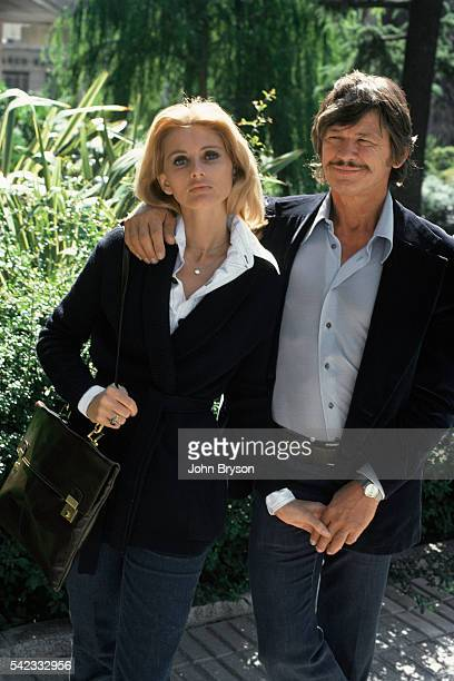 American actor Charles Bronson and his wife, British actress Jill Ireland.