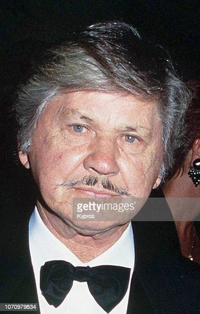 American actor Charles Bronson attend a red carpet event circa 1990