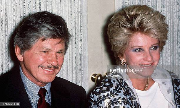 American actor Charles Bronson with his wife actress Jill Ireland circa 1985