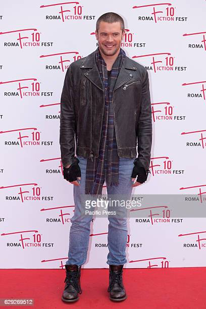 American actor Charlie Weber arrives on the red carpet for Shondaland during the 2016 Rome Fiction Fest.