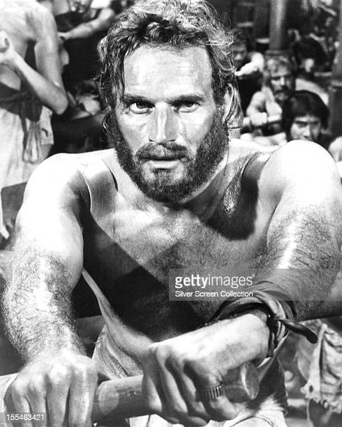 American actor Charlton Heston as galley slave Judah BenHur in 'BenHur' directed by William Wyler 1959