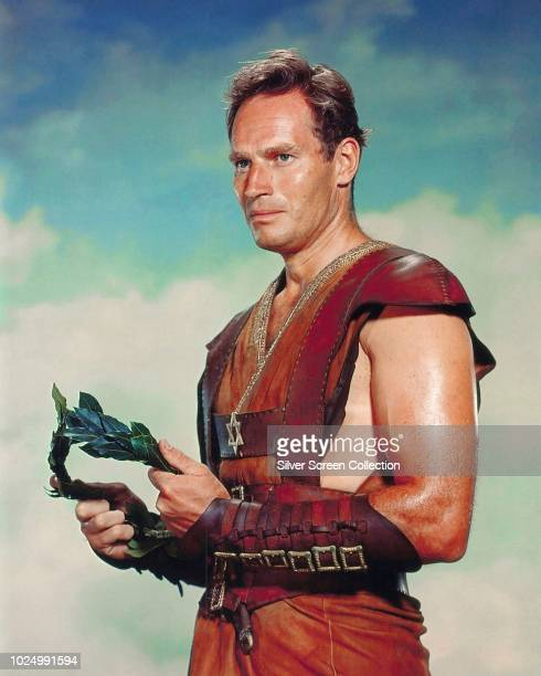 American actor Charlton Heston as Judah BenHur in a publicity still for the religious drama 'BenHur' 1959