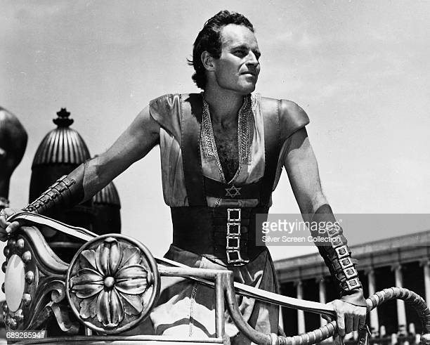 American actor Charlton Heston as Judah BenHur in the film 'BenHur' 1959