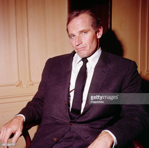 American actor Charlton Heston in London in 1966