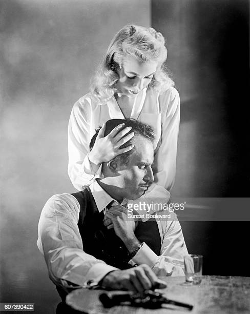 American actor Charlton Heston Janet Leigh on the set of Touch of Evil written and directed by Orson Welles