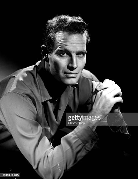 American actor Charlton Heston Los Angeles 1957