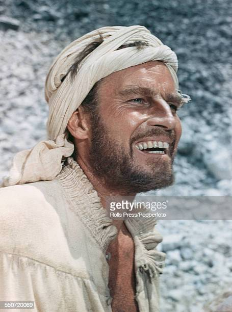 American actor Charlton Heston pictured in character as the artist Michelangelo in a scene from the 1965 film 'The Agony and the Ecstasy' in Italy