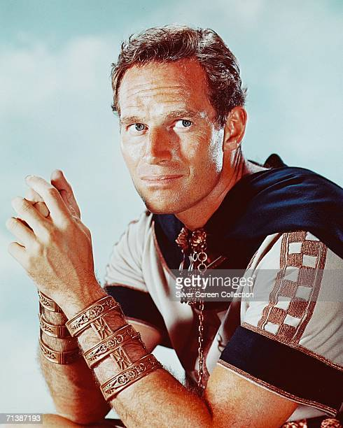 American actor Charlton Heston stars as Judah BenHur a rich Jew adopted by a Roman in the classic film 'BenHur' directed by William Wyler for MGM 1959