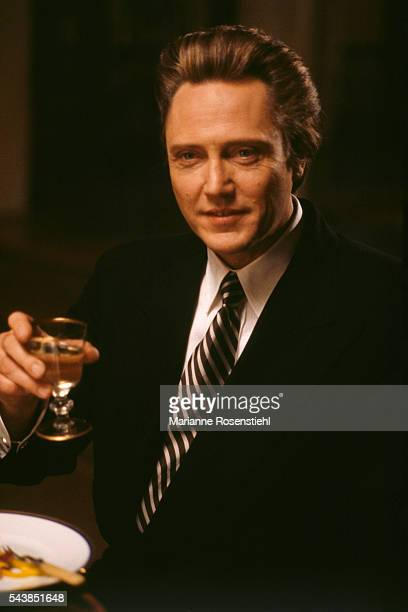 American actor Christopher Walken on the set of The Comfort of Strangers by American director screenwriter and actor Paul Schrader