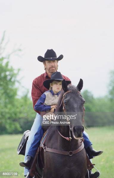 American Actor Chuck Norris And Haley Joel Osment Ride A