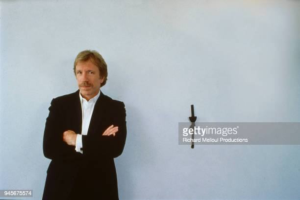 American actor Chuck Norris is in town to attend the Cannes Film Festival 18th May 1988