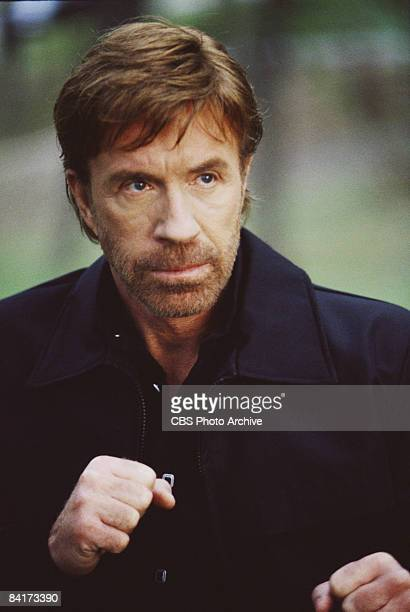 American actor Chuck Norris plays Texas Ranger Cordell �Cord� Walker in the episode �Special Witness� from the television show 'Walker Texas Ranger'...