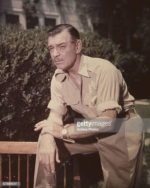 American actor Clark Gable circa 1958
