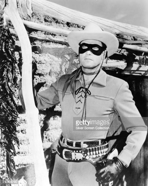 American actor Clayton Moore stars as John Reid aka The Lone Ranger circa 1950