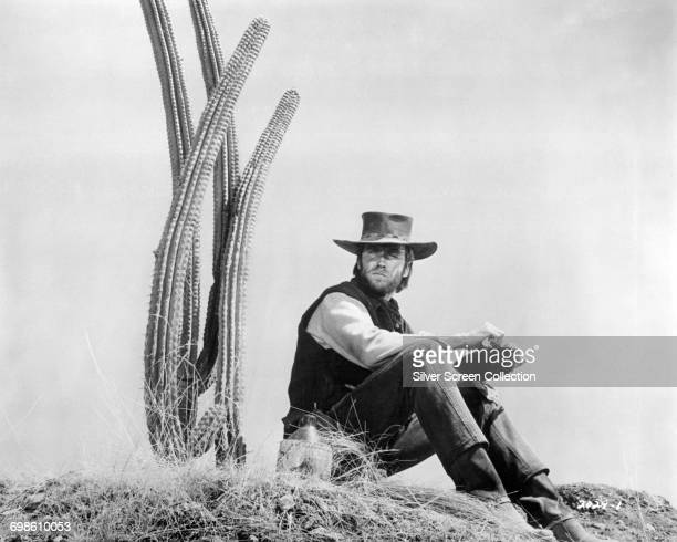 American actor Clint Eastwood as gunslinger Hogan in the western film 'Two Mules for Sister Sara' 1970