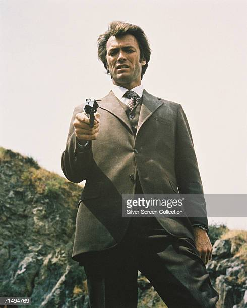 American actor Clint Eastwood as Inspector 'Dirty' Harry Callahan in a scene from Don Siegel's thriller 'Dirty Harry' 1971