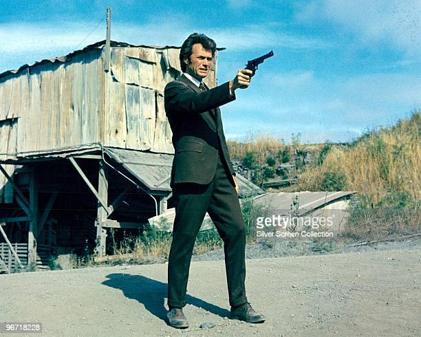 American actor Clint Eastwood as Inspector Harry Callahan of the San Francisco Police Department in the film 'Dirty Harry' 1971
