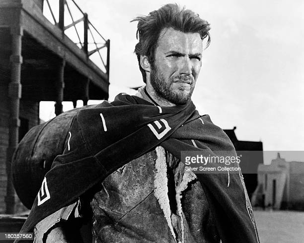American actor Clint Eastwood as Joe in 'A Fistful of Dollars', directed by Sergio Leone, 1964.