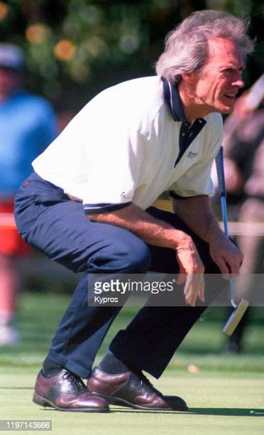 American actor Clint Eastwood at a golf match circa 1995