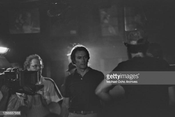 American actor Clint Eastwood at the Palomino Club in North Hollywood, California, during the filming of 'Any Which Way You Can', 16th July 1980.