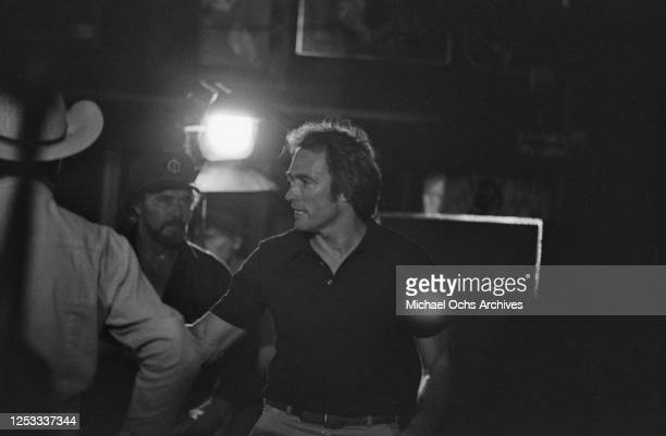 American actor Clint Eastwood at the Palomino Club in North Hollywood California during the filming of 'Any Which Way You Can' 16th July 1980