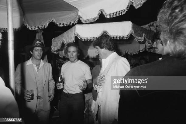 American actor Clint Eastwood at the Palomino Club in North Hollywood California during a party for the film 'Any Which Way You Can' 16th July 1980