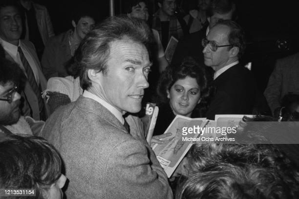 American actor Clint Eastwood circa 1985
