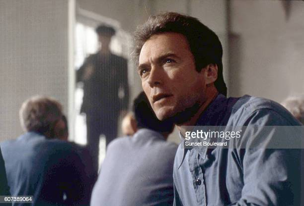 American actor Clint Eastwood on the set of Escape From Alcatraz directed by Don Siegel
