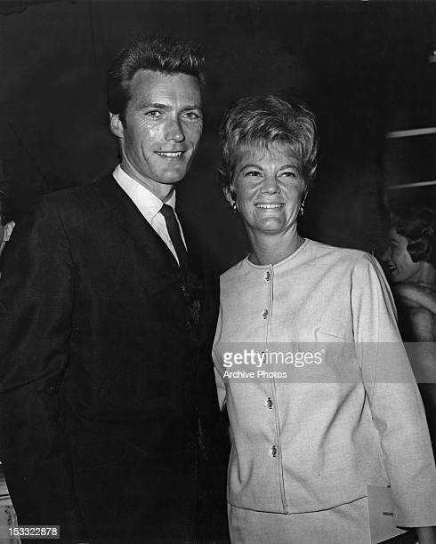American actor Clint Eastwood with his first wife Maggie Johnson at the opening night of an 'Ice Capades' skating show, USA, circa 1960.
