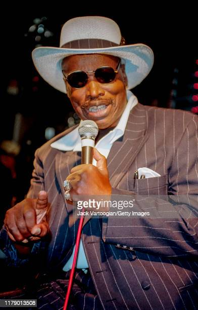American actor comedian and singer Rudy Ray Moore performs '60's '70's Xrated Party songs at Wetlands New York New York September 23 2000