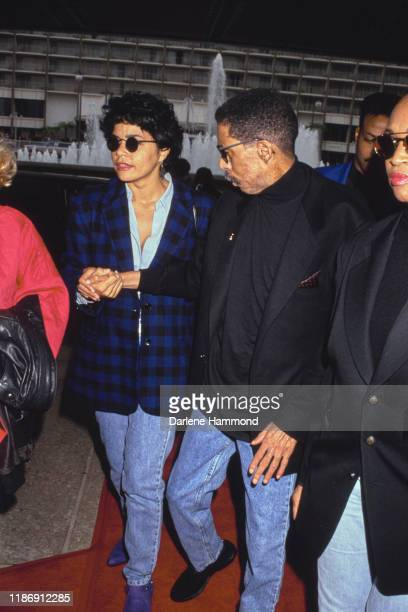 American actor, comedian and writer Richard Pryor with his wife, Flynn Belaine, circa 1990.