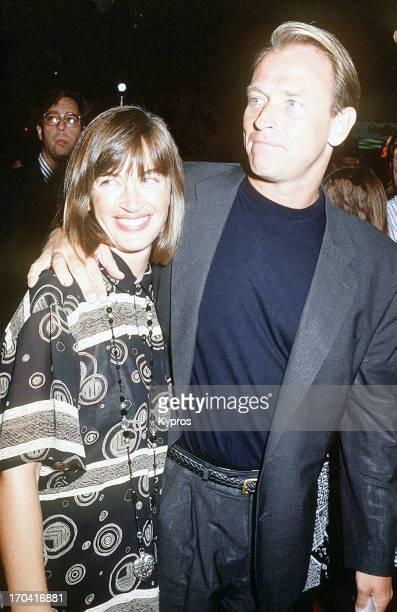 American actor Corbin Bernsen with his wife actress Amanda Pays circa 1988