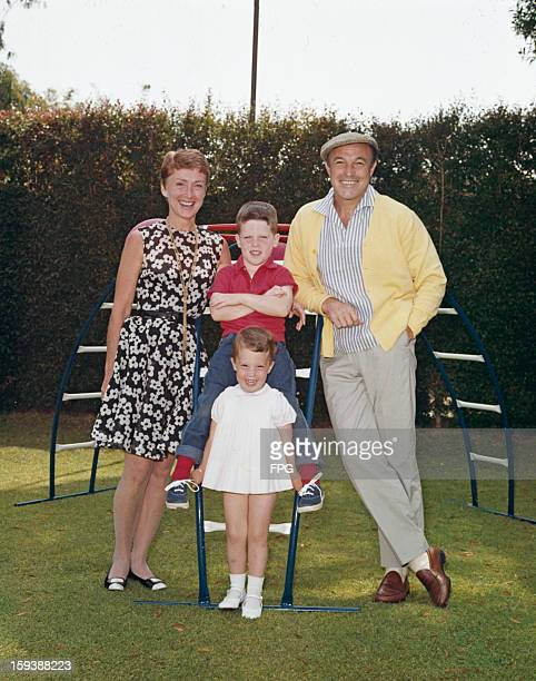 American actor dancer and singer Gene Kelly with his wife Jeanne Coyne and their children Tim and Bridget circa 1968