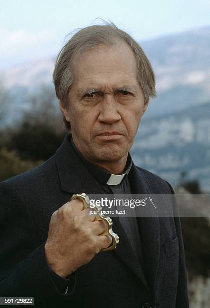 American actor David Carradine in the 1989 American movie Try This One for Size directed by Guy Hamilton and based on the novel by James Hadley Chase