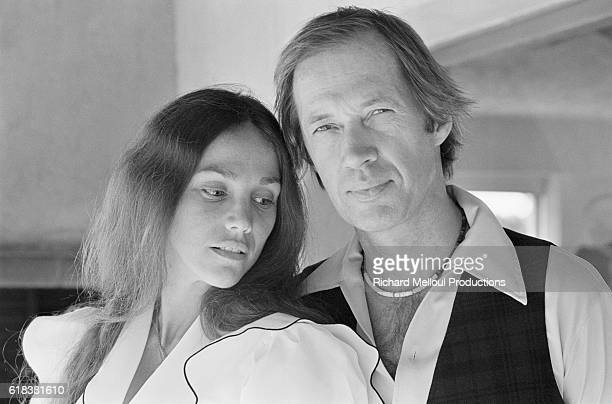 American actor David Carradine poses with his wife Linda The couple were in Cannes to attend the 34th Cannes Film Festival