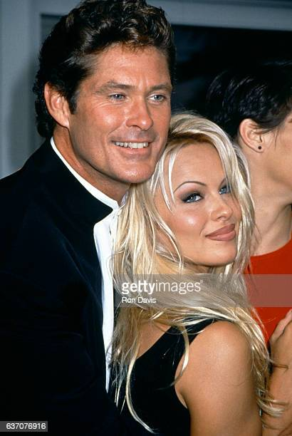 American actor David Hasselhoff and CanadianAmerican actress and model Pamela Anderson attend 'Baywatch' 100th Episode Anniversary Celebration on...