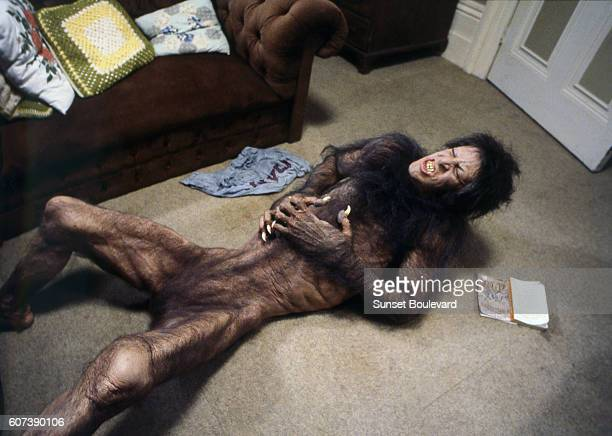 American actor David Naughton on the set of An American Werewolf in London written and directed by John Landis