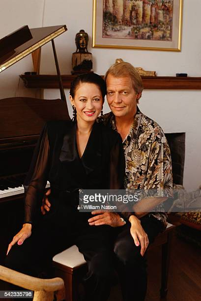American actor David Soul and his wife BritishChinese actress Julia NicksonSoul at their home in Los Angeles