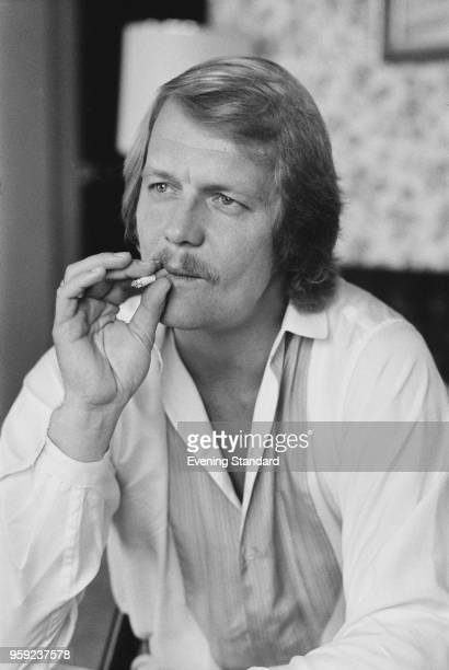 American actor David Soul smoking a cigarette UK 18th May 1978
