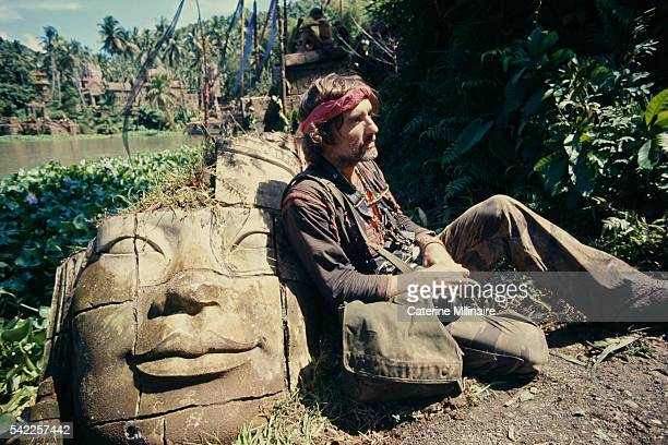 American actor Dennis Hopper on the set of the film Apocalypse Now directed by Francis Ford Coppola and based on Joseph Conrad's novel Heart of...