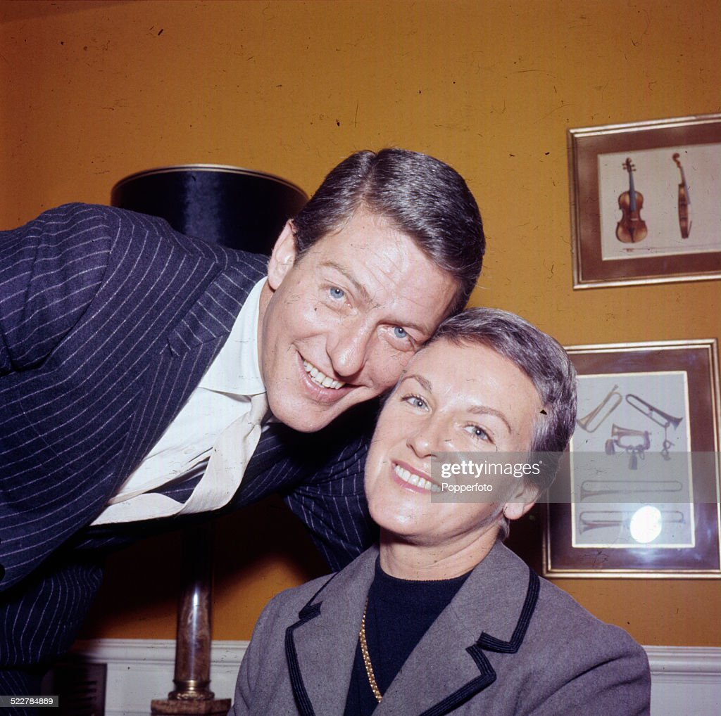 American actor Dick Van Dyke pictured with his wife Margie Willett in London in 1964.