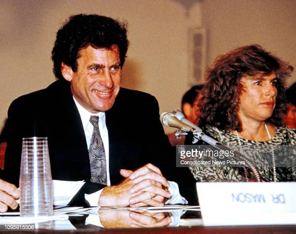 American actor director and AIDS activist Paul Michael Glaser testifies before the House Budget Committee's Task Force on Human Resources during a...