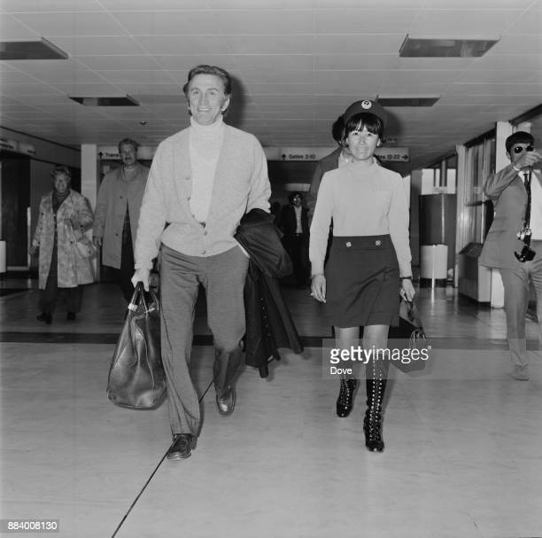 American actor director and author Kirk Douglas at Heathrow Airport leaving for New York UK 26th April 1971