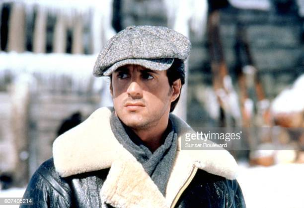 American actor director and screenwriter Sylvester Stallone on the set of his movie Rocky IV