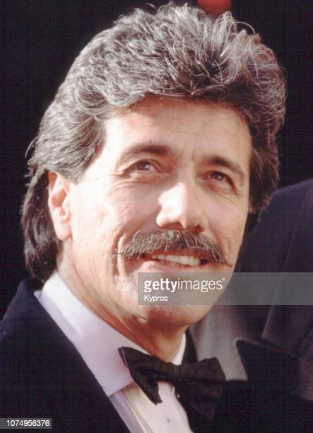 American actor, director, producer, and activist Edward James Olmos attends a red carpet event, circa 1990.