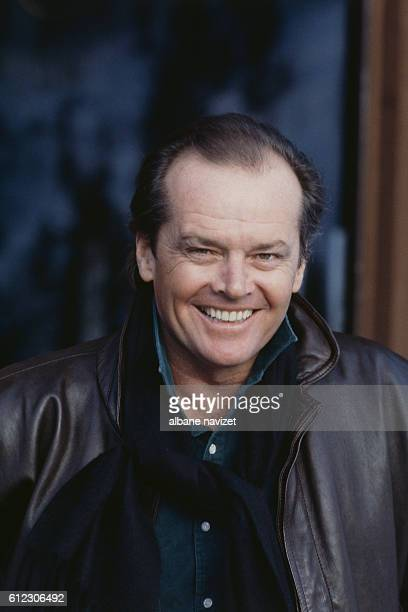American actor, director, screenwriter and producer Jack Nicholson at home in Aspen.