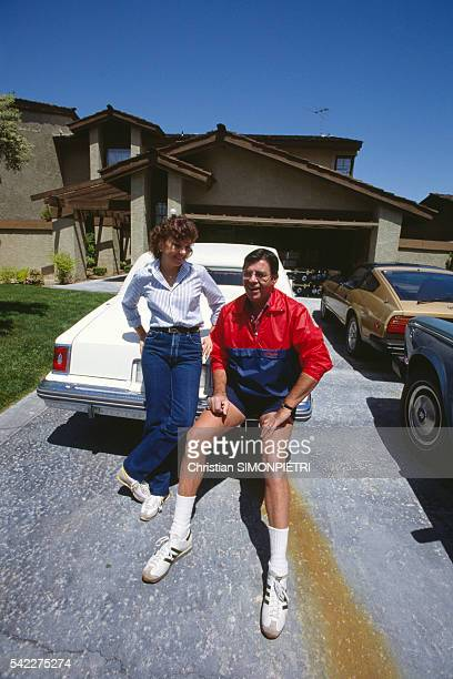 American actor director screenwriter and producer Jerry Lewis with his wife SanDee Pitnick at home in Las Vegas
